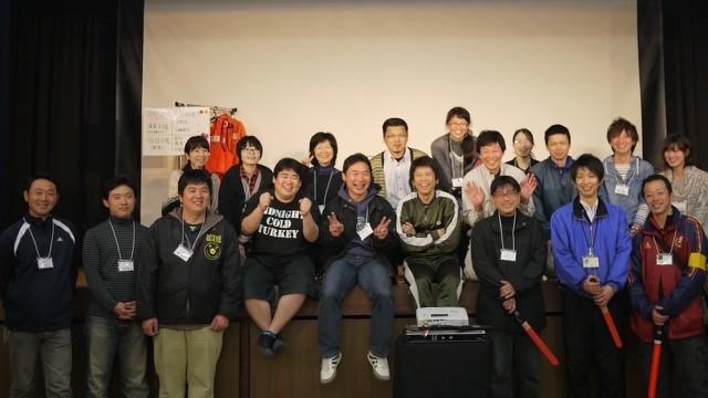 八代実行委員長、中村章二さんと熱い仲間たち。