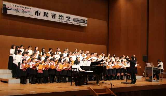 第22回市民音楽祭「交響詩伊万里」 指揮:大屋芳子、ピアノ:石井美加、エレクトーン:濱瀬裕子