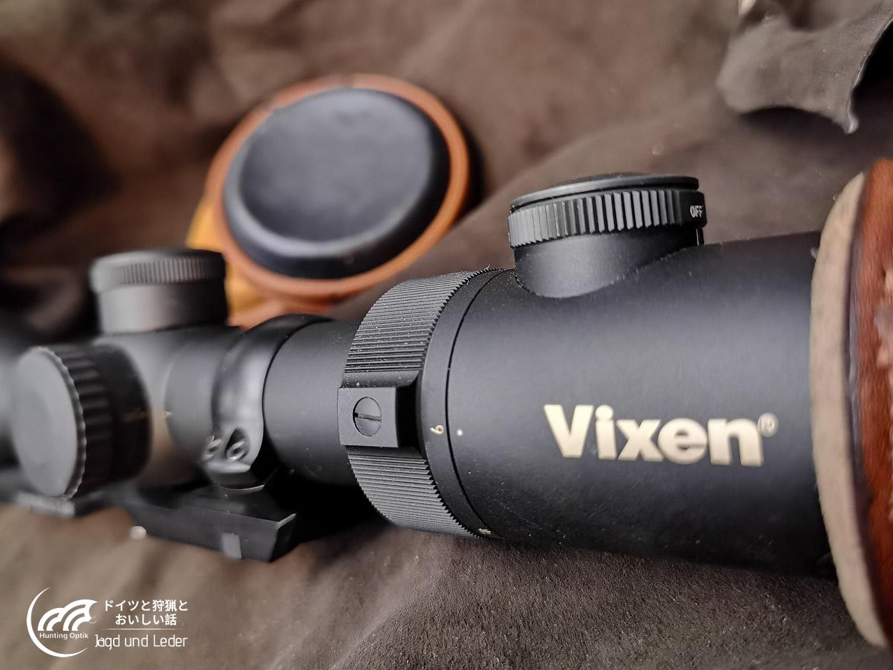 レンズキャップはどうなのか。 for Vixen 6-24x58 ライフルスコープ