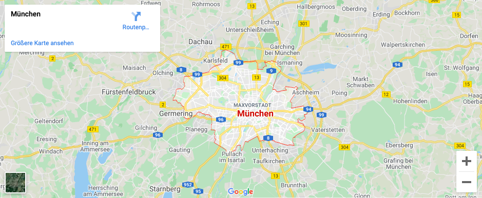 Einsatzgebiet Schlüsseldienst München und Umgebung