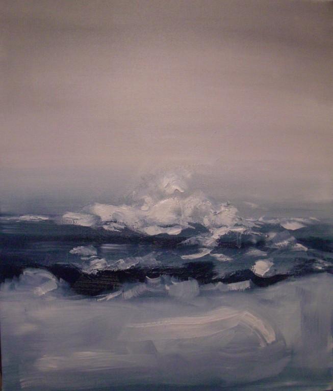 """""""la vague""""   huile sur toile 65x54"""