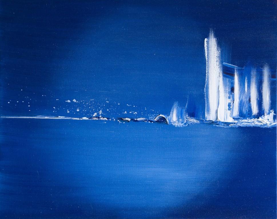 """""""Grand Bleu""""   huile sur toile 55x46"""