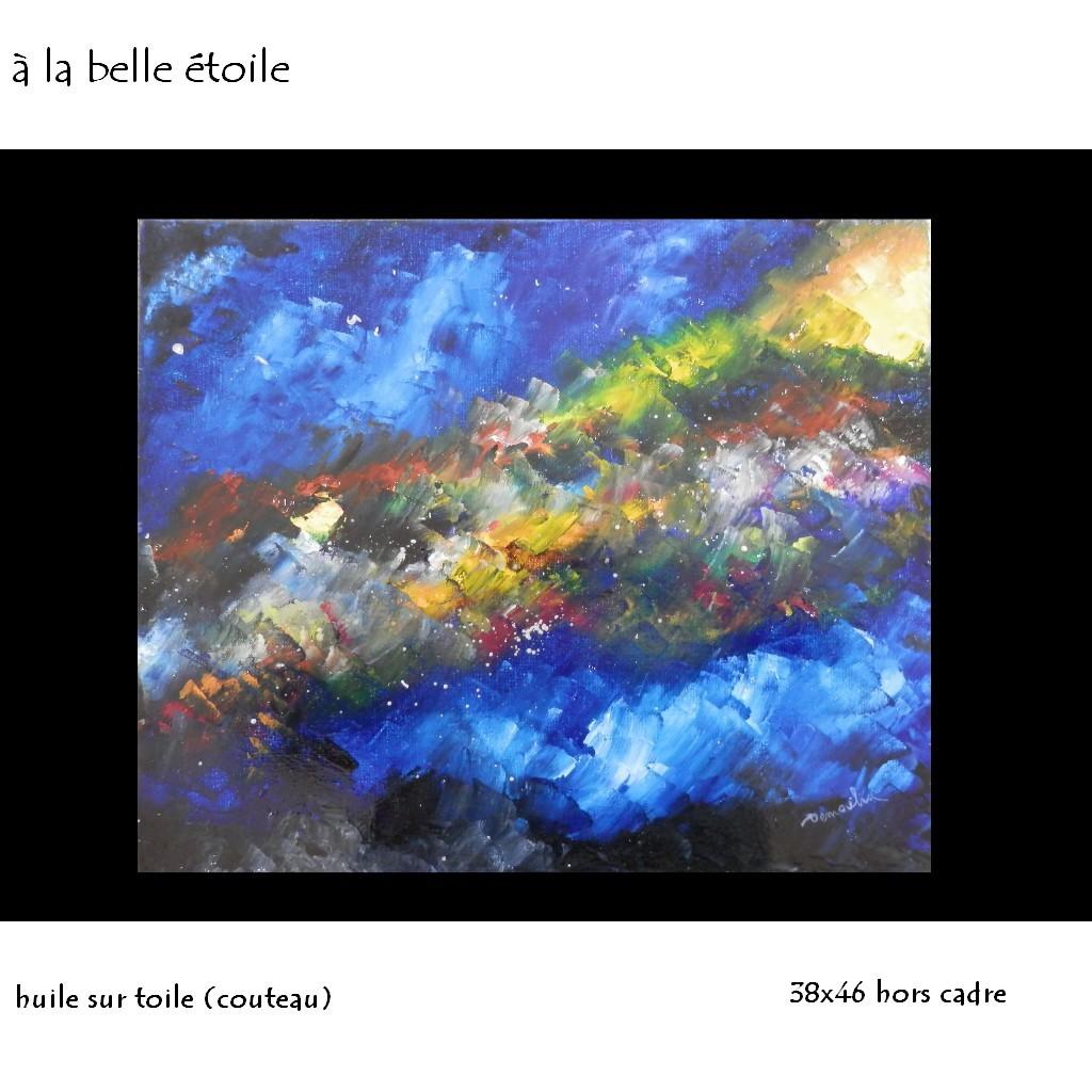"""""""à la belle étoile"""" huile sur toile 38x46"""