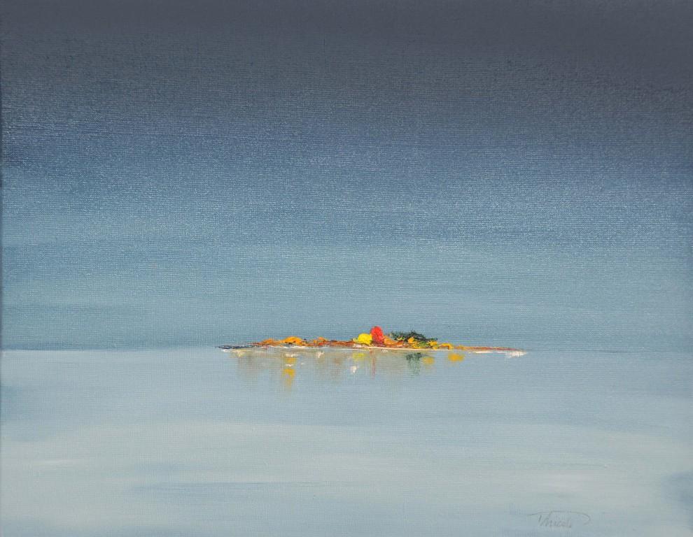 """Horizon Lointain""   huile sur toile 55x46"