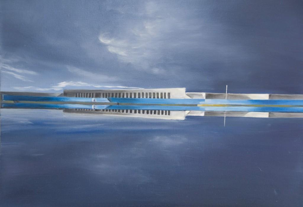 """Architecture""   huile sur toile 70x50"