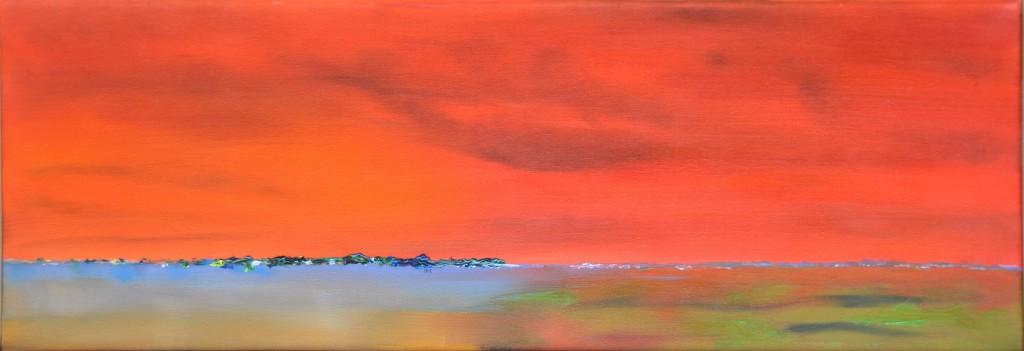 """""""Horizon 2""""   huile sur toile 75x25"""