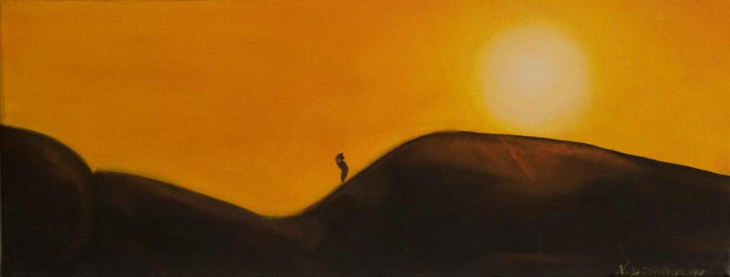 """""""Dunes""""   huile sur toile 50x20  indisponible"""