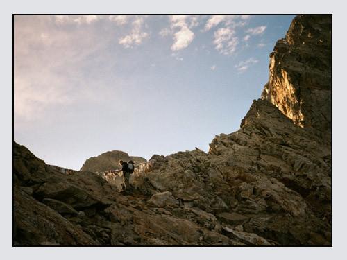 Passo Dei Ghiacciai del Gelas. Nov. 2001, GC, MR