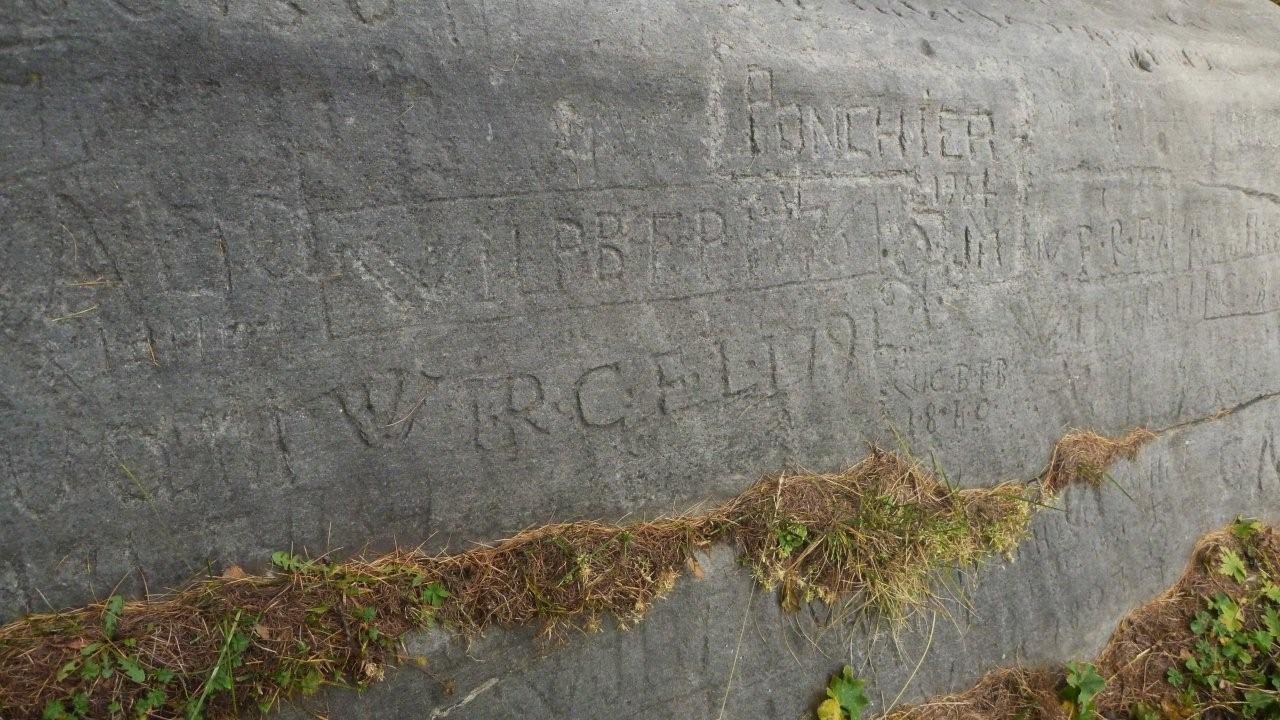Pierre écrite; 1776, etc...
