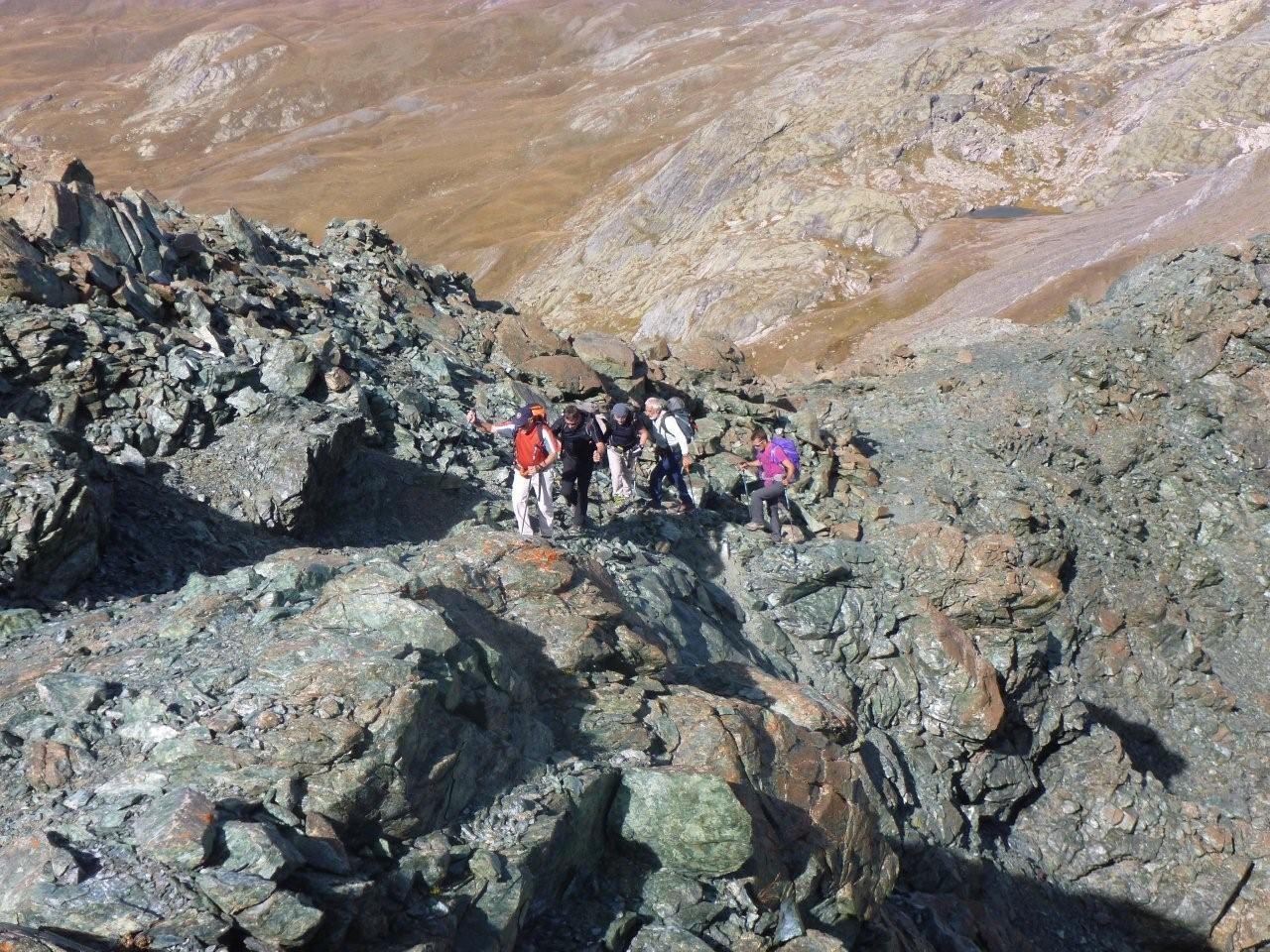 En montant sur la Petite Tête Noire (3039 m)
