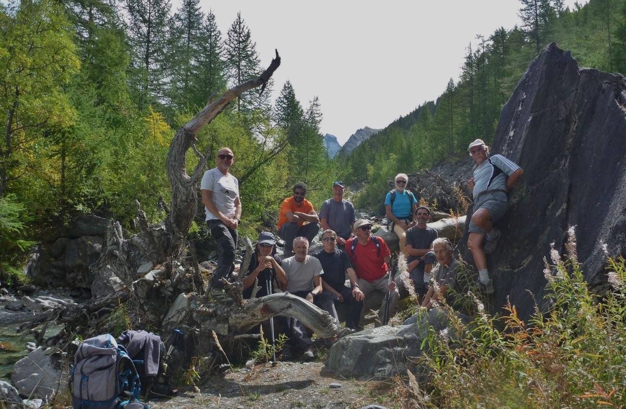 Photo du sommet dans le Guil