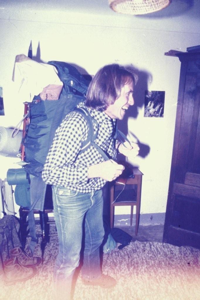 Au début, le poids du sac, ça fait rire ...