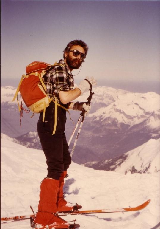 Descente de la vallée blanche avril .1987 jpS