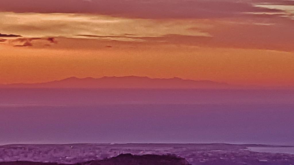 La Corse vue de la route du Col de Vence