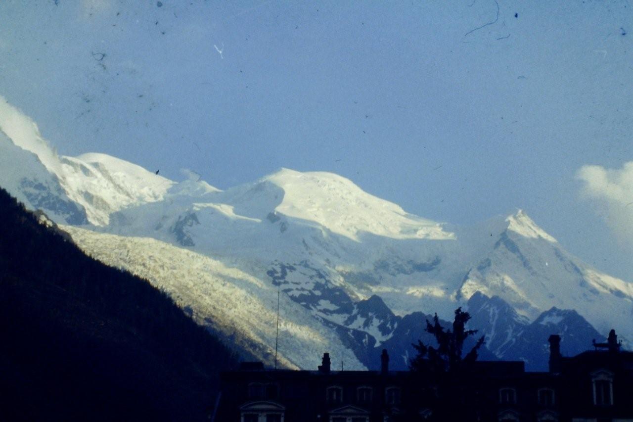 Mt Blanc vude Chamonix