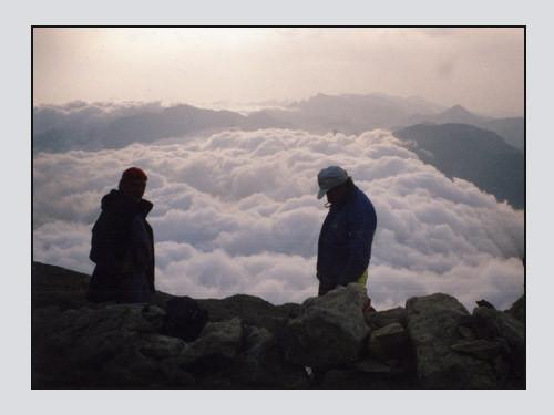 Roche de l'Abysse Bivouac Juin 98, GC, JPR, MR