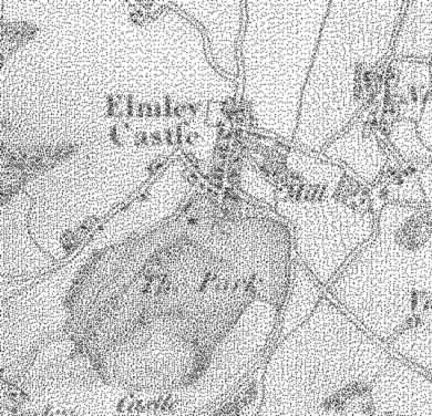 19th century Elmley Castle.