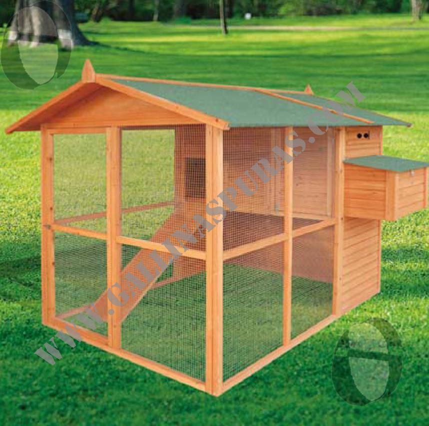 Gallineros de madera gp for Tejados de madera como hacer