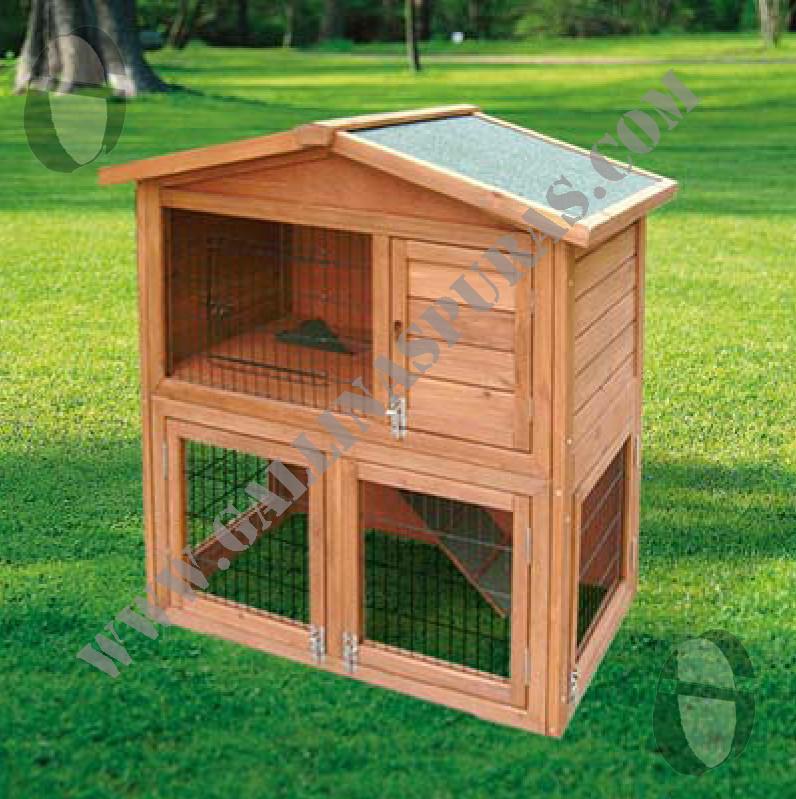 Conejeras madera gp for Casas de juguete para jardin
