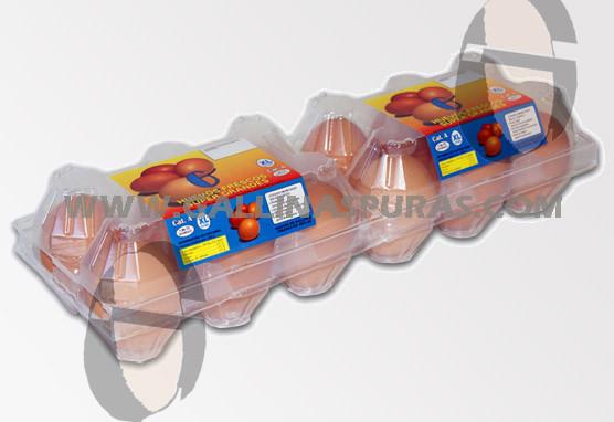 HUEVERAS PLASTICO 1/2 DOCENA XL