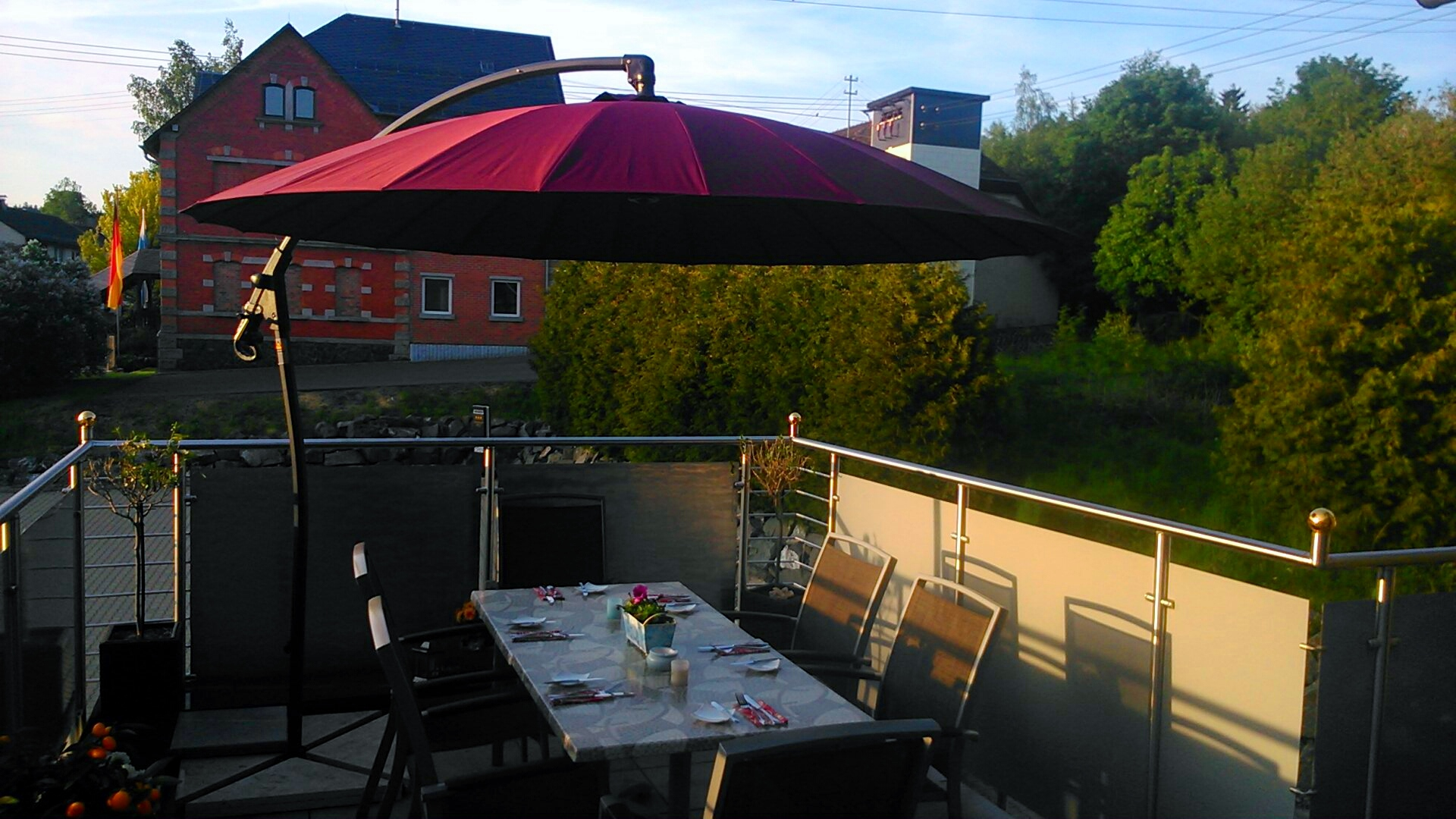 ...gerne können Sie unsere Terrasse für eine private Feier nutzen...
