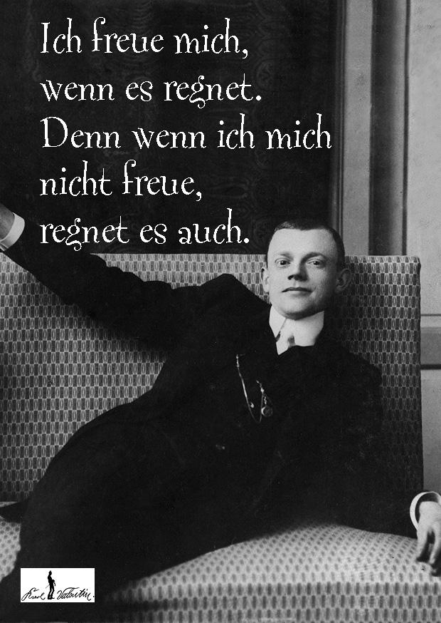 Karl Valentin Zitate Ich Freue Mich Wenn Es Regnet