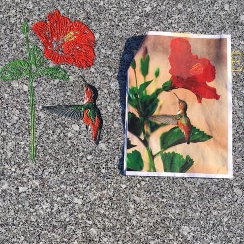 Gravure au sablage et peint à la main
