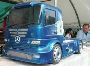 Blue Truck mit Airbrush-Lackierung am STÖHR - RING