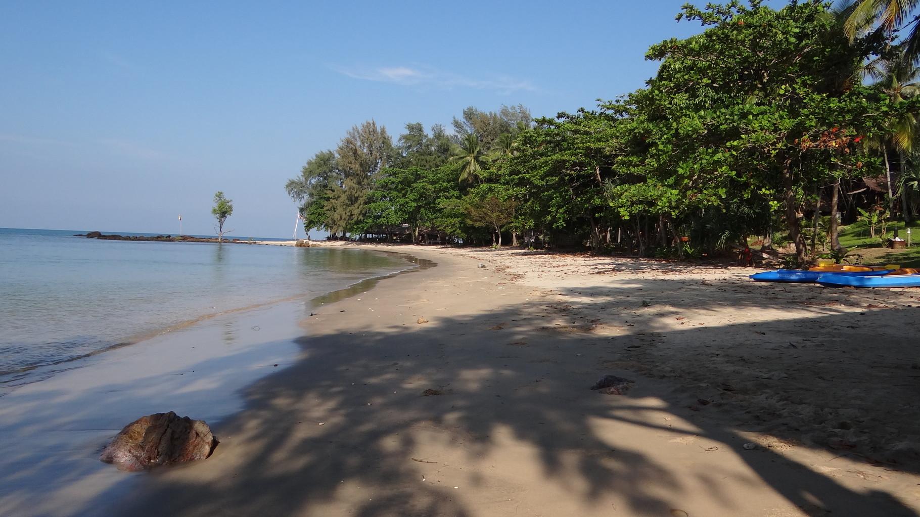 Am südlichsten Strandabschnitt bei den Freedom Bungalow's
