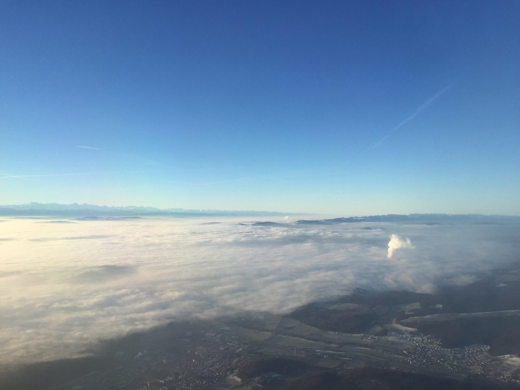 ... wo wir mit Mühe im Nebel landen konnten