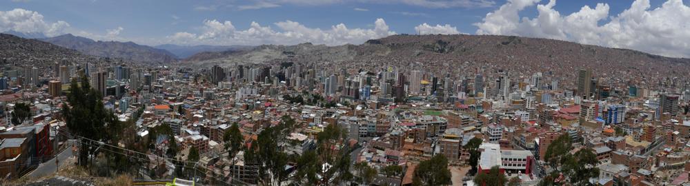 La Paz ist einfach riesig