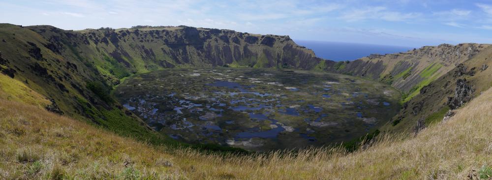 Der Rano Kau Vulkan