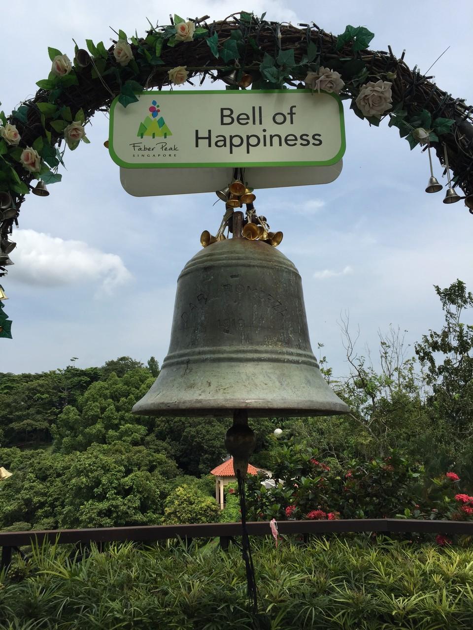 Immer gut: die Bell of Happiness! Das lassen wir uns nicht entgehen!