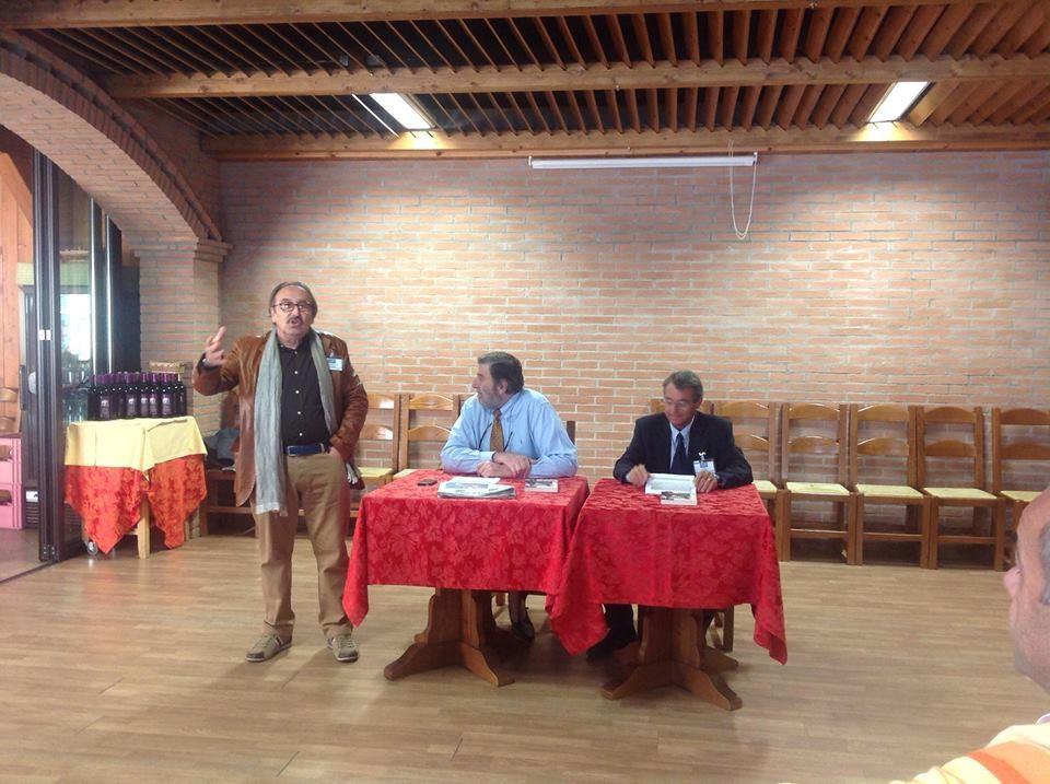 """da sinistra: io, Giancarlo Romani e Giorgio Sirigu che presenta il suo nuovo libro """"Argentina 1980. Un tango mai ballato""""."""
