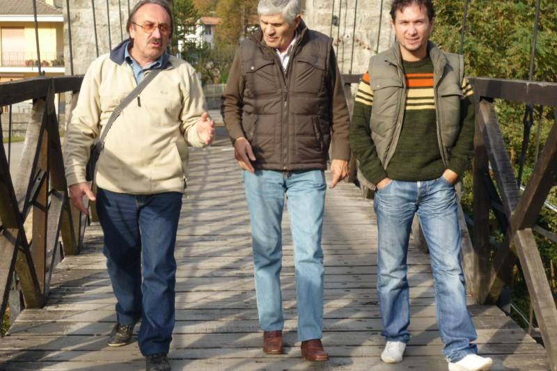 29.10.2009 - E' venuto a trovarmi a Varallo l'interprete MICHELE MARUSSICH (al centro) che non vedevo e sentivo dal lontano 1985 - Giornata di ricordi.