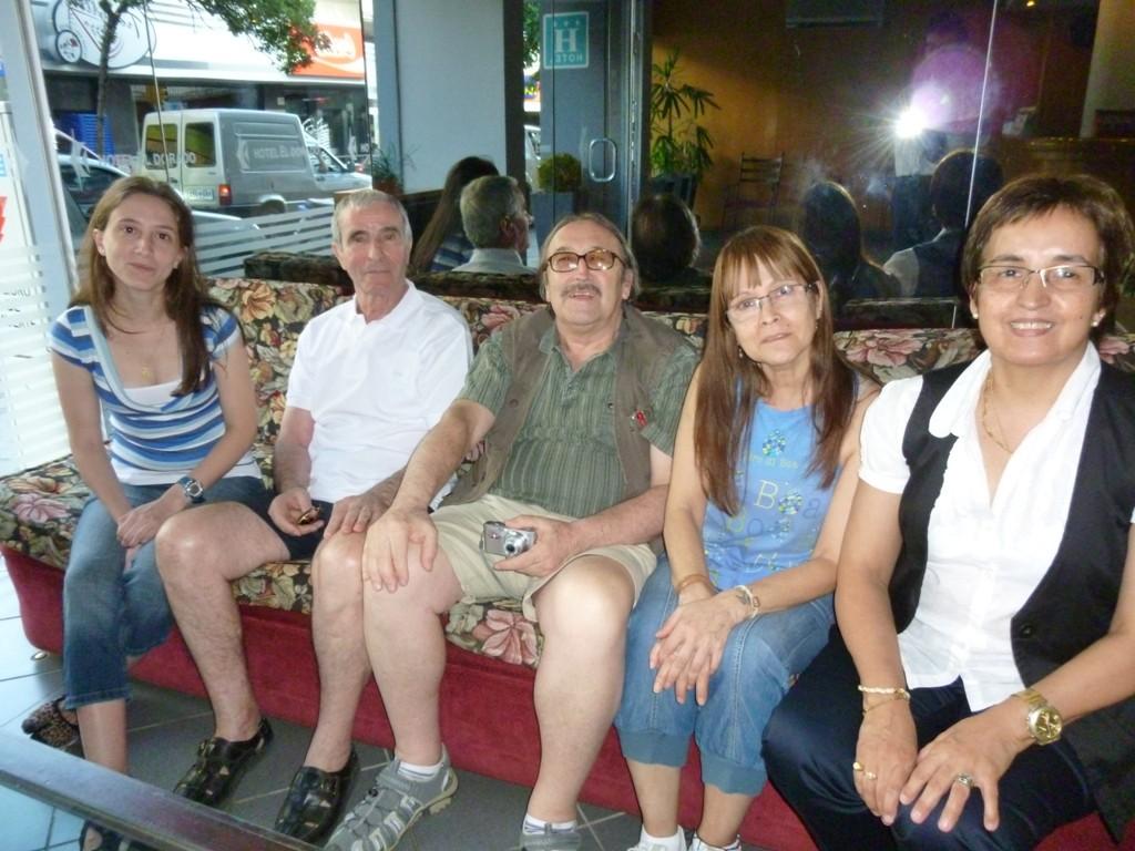 Valeria Armani, Silvio Armani, io, Cristina e Oncelì Barreda