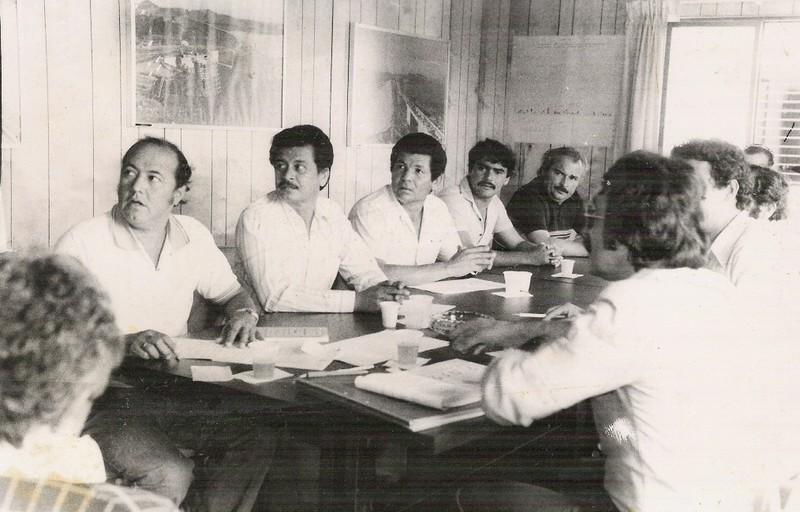 En fruente a mi el segretario general del Sindicato Ande-Tachira Eduardo Colmenares