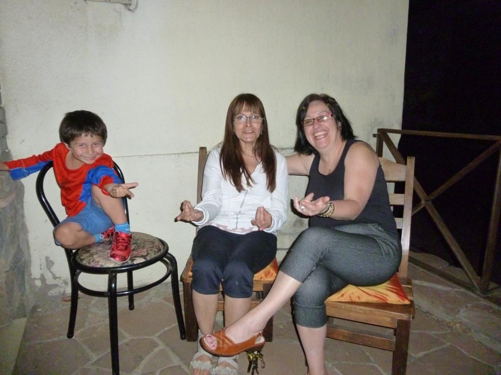 Cristina, Lilian ed il nipote Bruno