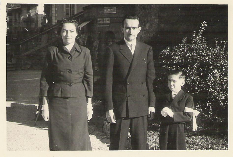 Cresima con mamma ed il padrino Marcello