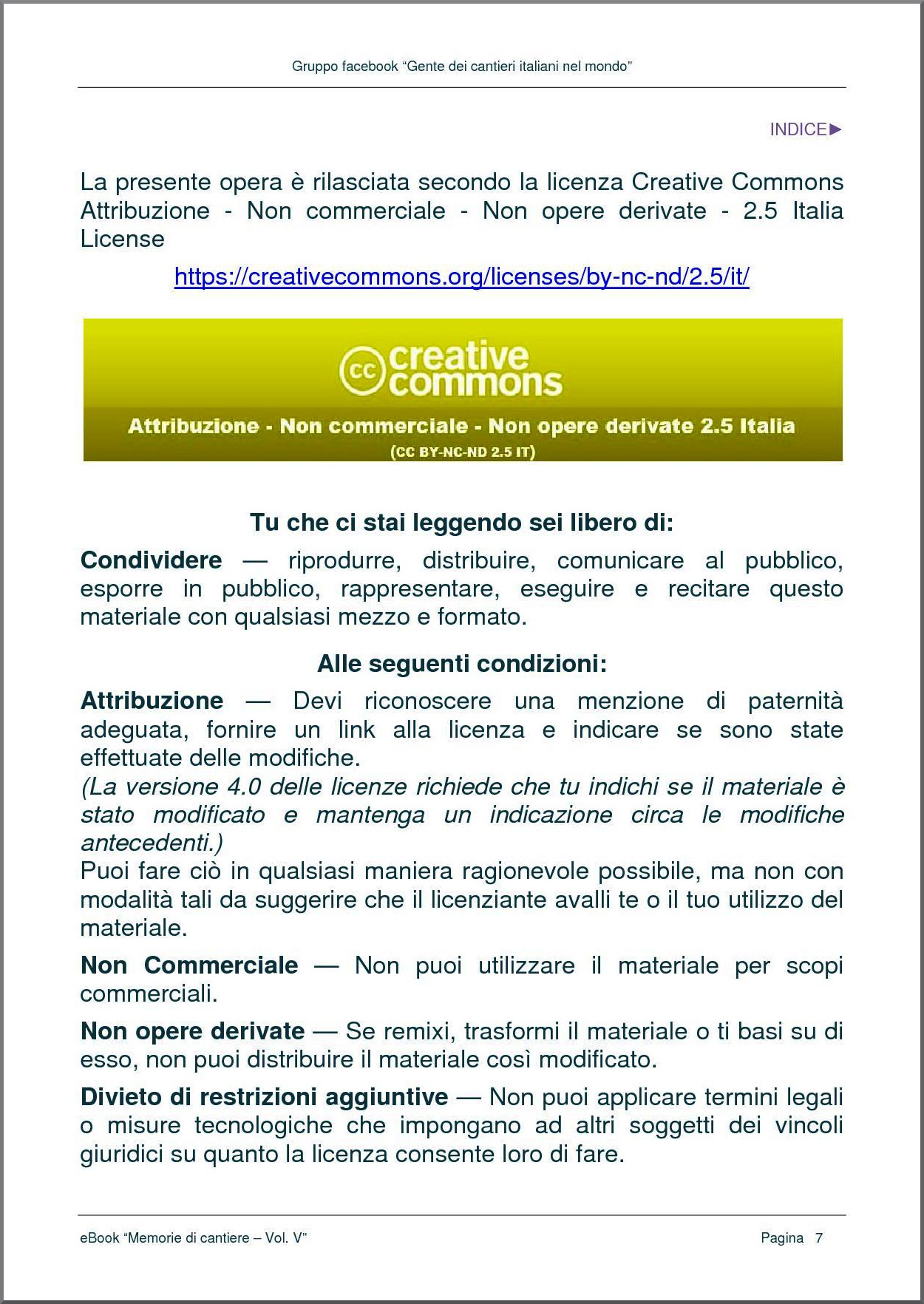 LICENZA CREATIVE COMMONS - pag. 1