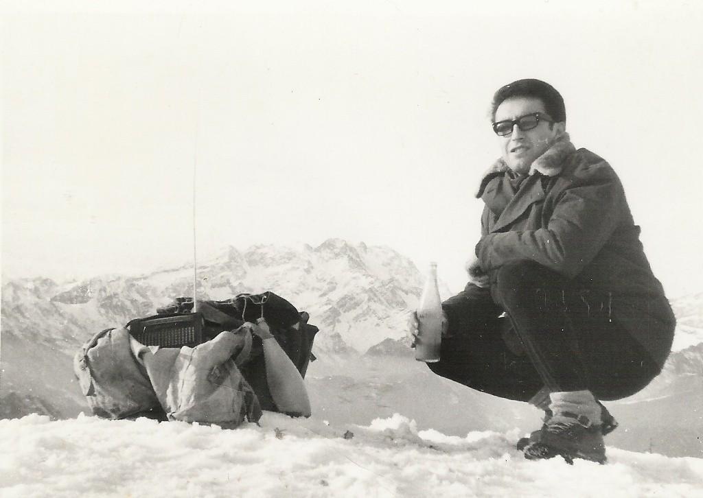 DIC 1965 -  Ai tempi si andava in montagna con una modesta attrezzatura