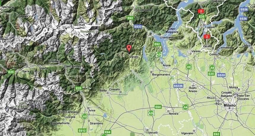 Localizzazione di VARALLO SESIA - VC