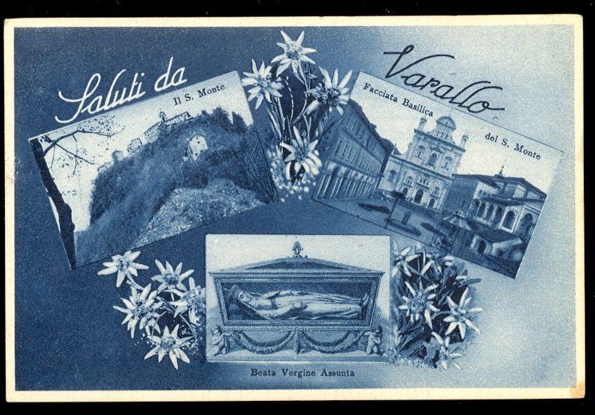 ANTICA CARTOLINA DI VARALLO - SACRO MONTE