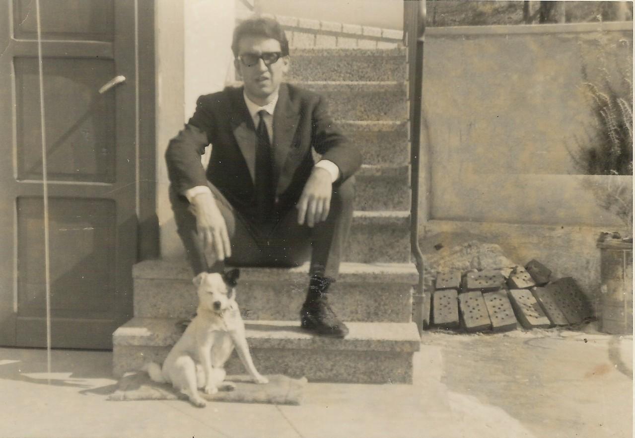 """MARZO 1965 CON MIO CANE """"REBEL"""""""