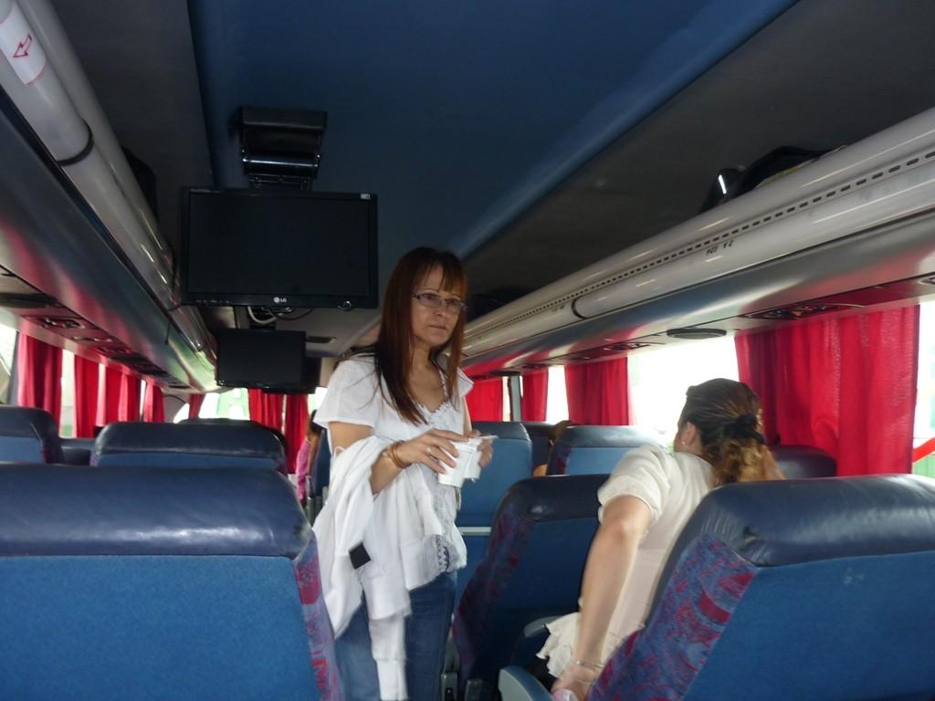 Cristina sul bus che