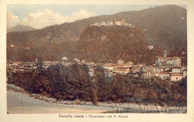 ANTICA CARTOLINA DI VARALLO