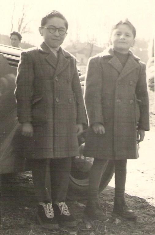 Con mio cugino Erminio