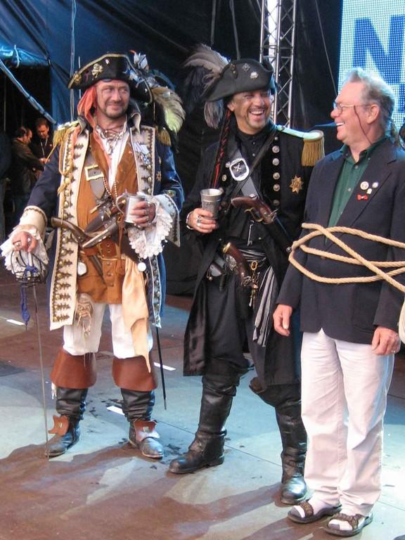 Robin Walbridge (Kapitän der Bounty) auf der NDR Bühne