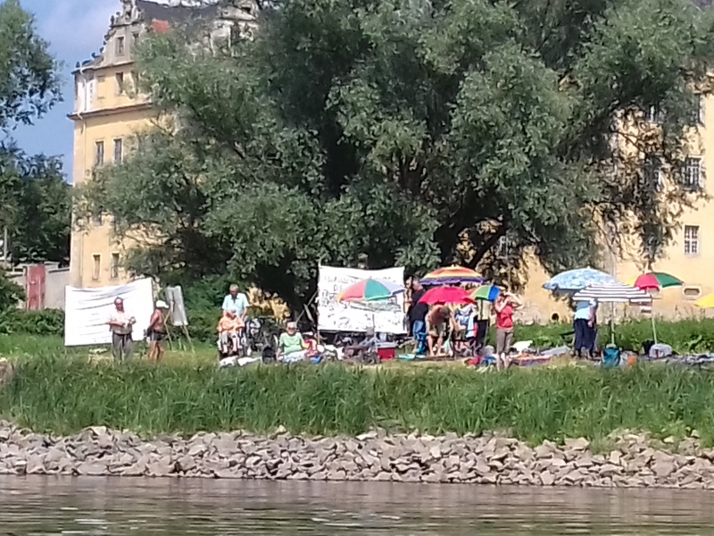 Die Aktivisten des Elbebadetags in Coswig