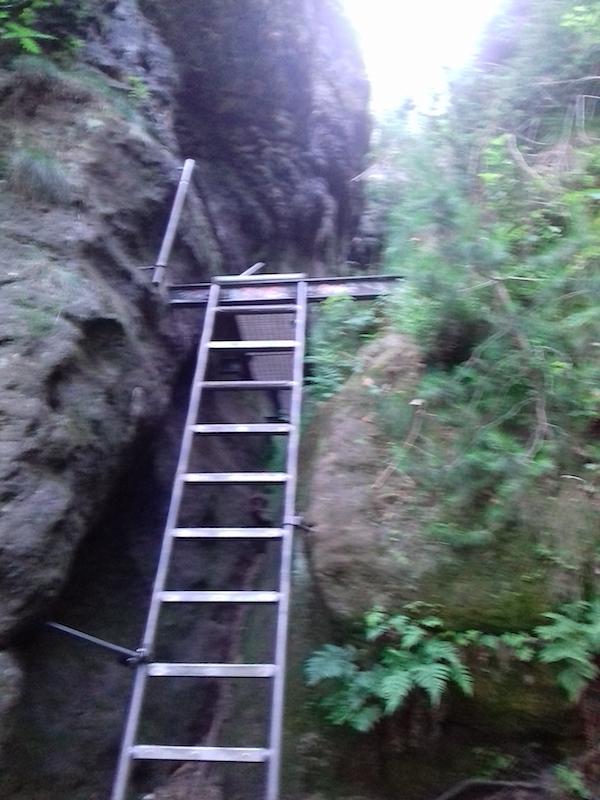 ... und steil. Noch 542 Stufen!